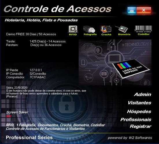 Software controle de acesso para Hoteis Pousadas Flat