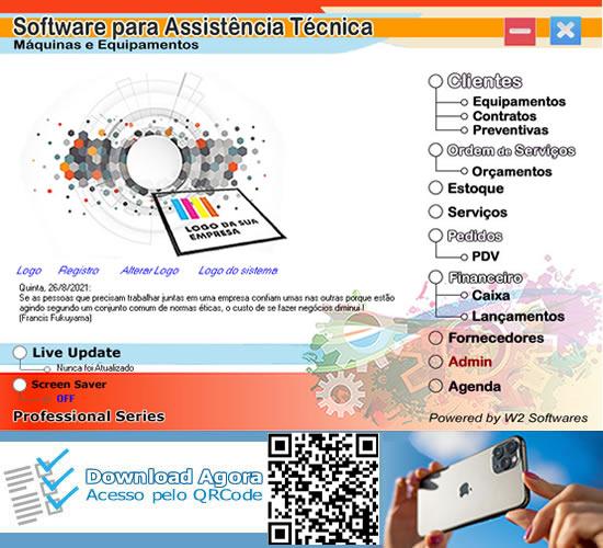 Software de manutenção de equipamentos e máquinas