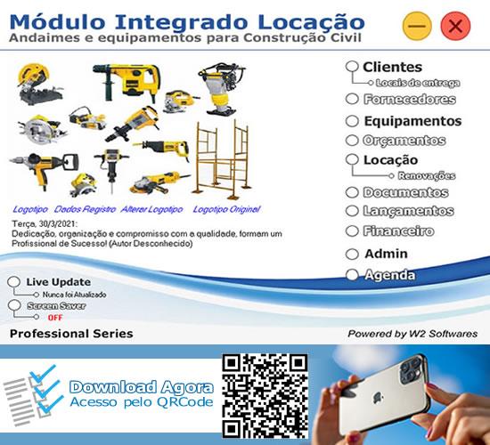 Software locação de equipamentos máquinas andaimes