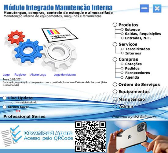 Software manutenção interna Software manutenção de máquinas e equipamentos