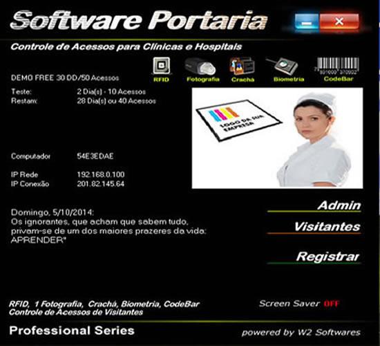 Software controle de acesso para Hospitais biometria RFID