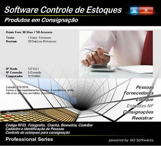 Software controle de estoques para consignação
