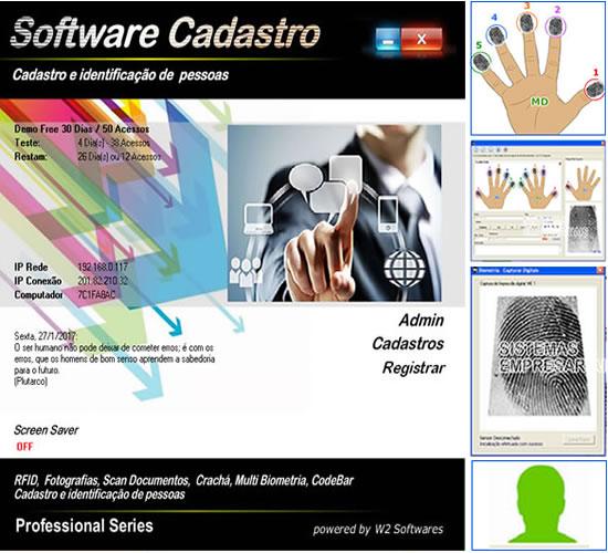 Software cadastro de clientes ou pessoas com foto e biometria