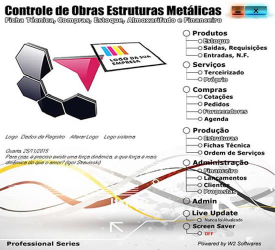 Software Estrutura metálicas Produção Controle de Obras Estrutura metálicas