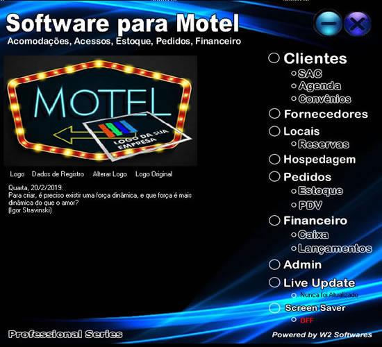 Software para Motel Pedidos Reservas Hospedagem Caixa