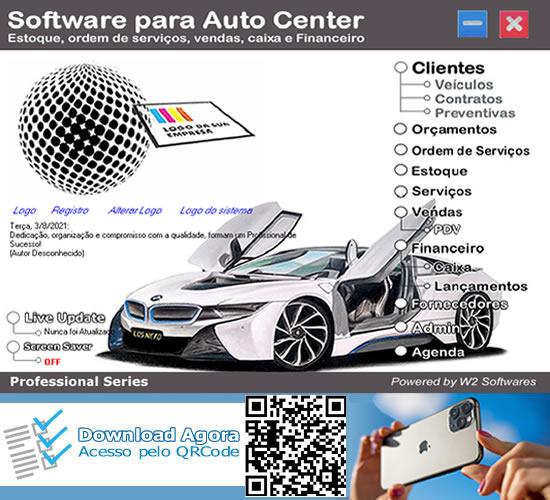 Software auto center com Ordem de Serviços Auto center