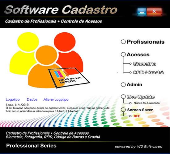 Software cadastro de funcionários software funcionarios foto biometria RFID