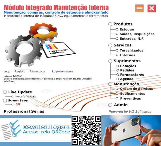 Software manutenção de equipamentos Máquinas e ferramentas