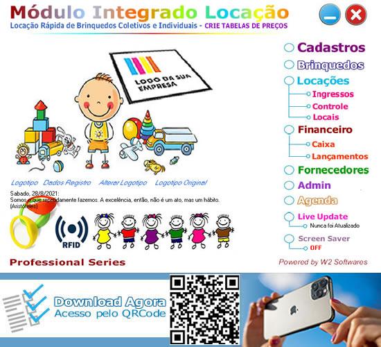 Software Locação de Brinquedos area kids locação rápida