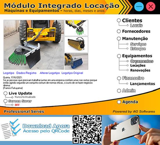 Software locação de equipamentos para limpeza por metro