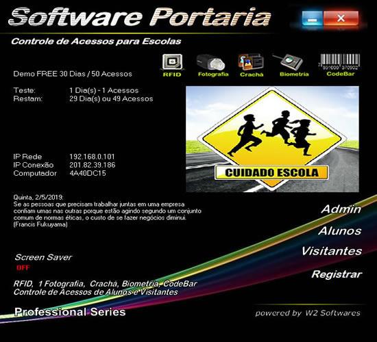 Software controle de acesso para portaria de escolas escola