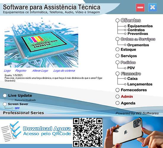 Software assistência técnica ordem de serviços computadores celulares audio vídeo