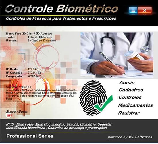 Software Controle de presença biometria tratamentos agenda