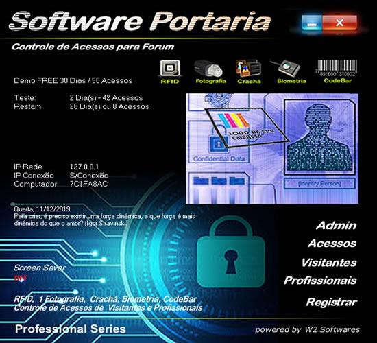 Software portaria Software para controle de acesso biométrico para forum