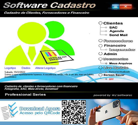 Software cadastro de clientes  e fornecedores SAC CRM
