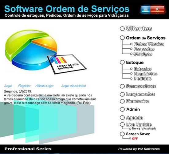 Software ordem de serviços para vidraçaria vidraçarias