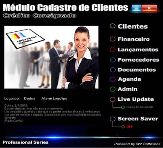 Software crédito consignado cadastro de clientes para crédito consignado