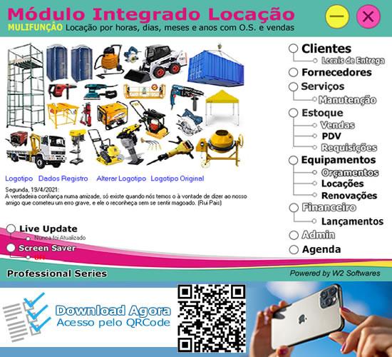 Software locação de andaimes equipamentos com O.S. e Vendas
