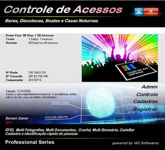 Software controle de acesso para bares casas noturnas discotecas