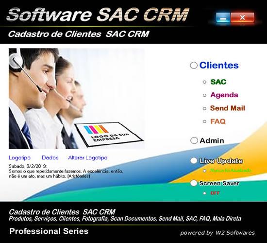 Software SAC CRM Serviço de Atendimento ao Consumidor SAC